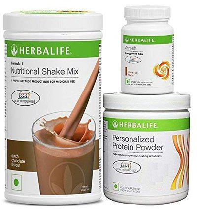 Herbalife Nutrition Formula 1 Chocolate with Personalized Protein Powder 200 g and Afresh Cinnamon