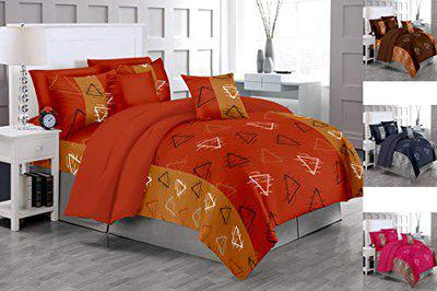 RADANYA 100% Cotton Double Bedsheet for Double Bed with 2 Pillow Covers,Orange