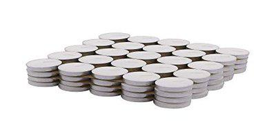 Shoppingdoor Wax Tea Light Candle (White, Set of 100, 3 to 4 Hours Burn Time)