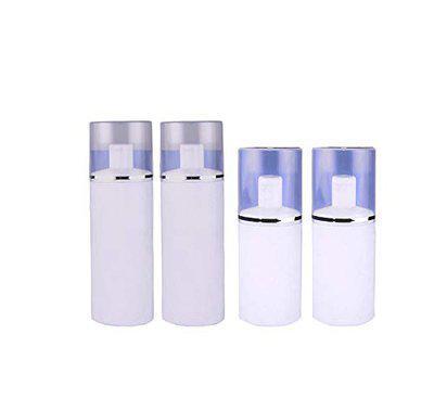 Fully Empty Bottle for Home Use Multipurpose Use Liquid Bottle for Rose Water 100 Ml +200 Ml Set of 4 Pcs White 20 Gram Pack of 1