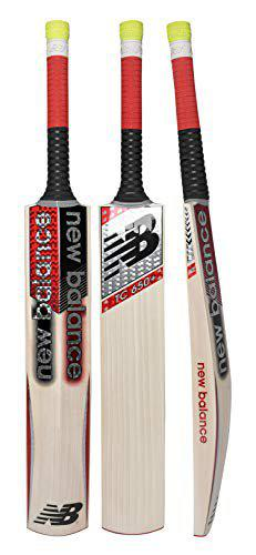 New Balance TC 650+ English-Willow Cricket Bat with Bat Cover (2019-20 Edition) - Short Handle (Full Size)