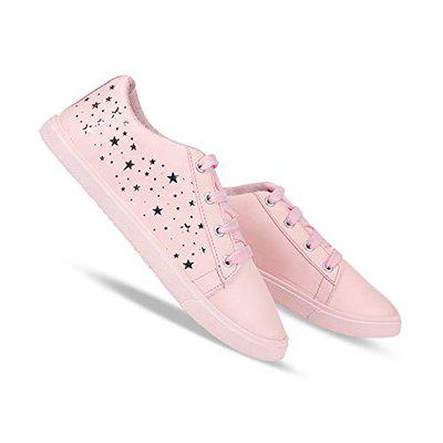 SWIGGY Party Casual Shoes, Outdoor Boots,Best Rates, Canvas Shoes,Sneakers Shoes, Loafers Shoes, Shoes, Trekking Shoes, Sports Shoes,Comfortable for Women's/Girls's (Pink-1253)