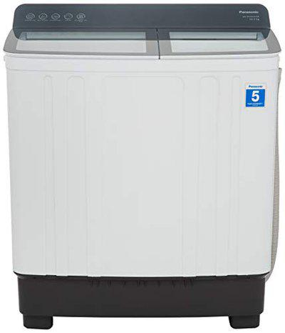 Panasonic 10.5 kg Semi-Automatic Top Loading Washing Machine (NA-W10H5HRB,Grey) with Toughened Glass Lid and Soft Closing Lid
