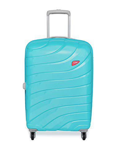 Skybags Blue Solid Hi-vol Hard-sided  Trolley Suitcase