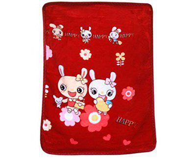 Amk Home Decor Double ply Reversible Mink Super Soft Kids/Baby Blanket(Single,0-2 Years)