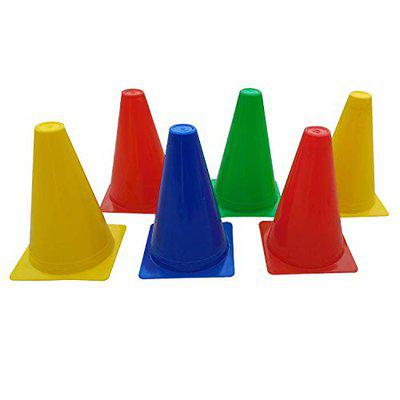 Foricx Heavy Quality Pack of 12 Marker Cones (6 Inch) for Soccer Cricket Track and Field Sports Elementary Cones Training Space Marker Equipment Agility Field Cone for Sports Football