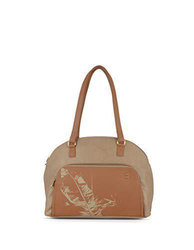 Baggit Beige Synthetic Handheld Bag