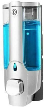 Logger Clean Home Dispenser with Key 400 ml Gel, Lotion, Soap, Conditioner, Shampoo Dispenser (Steel)