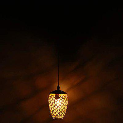 Design Mosaic Pendent Hanging Colourful Ceiling Lamp Light, Compatible with 5 to 60 Watt LED, Round, Glass