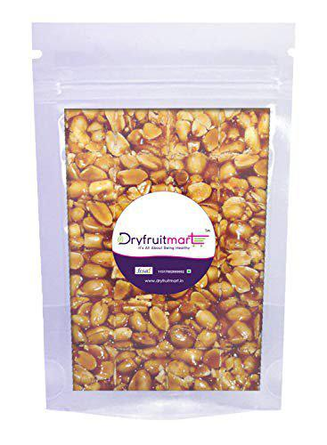 Dryfruit Mart Traditional Indian Vegan Sweet Jaggery Whole Peanut Chikki (Brittle), 200 g Each - Pack of 2