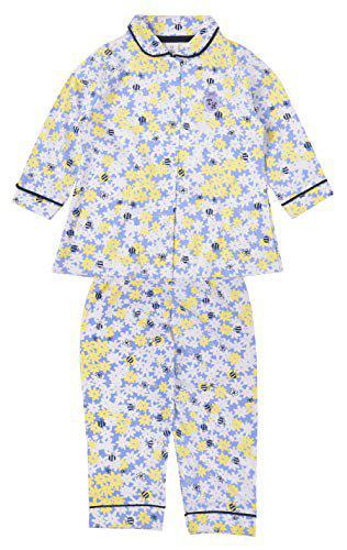 TOFFYHOUSE Flower Print Night Suit for Girls, Purple and Yellow, 6-9 Months