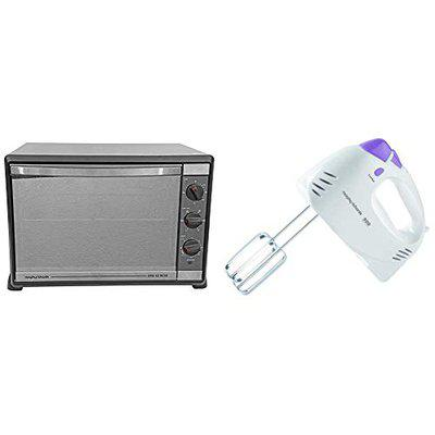 Morphy Richards 52 RCSS 52-Litre Oven Toaster Grill (Black) + Morphy Richards 300-Watt Hand Mixer (White)