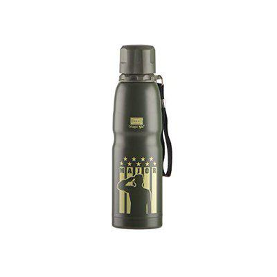 Polyset Major, Vacuum Insulated Steel Bottle, Military Green, 500 ml, Everyday Travel Thermos, Leak Proof, Hot and Cold, Ideal for School, Office and Home