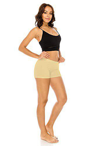 The Blazze 1001 Boy Short Boy Shorts Women (X-Large(90-95cm), B - Beige)