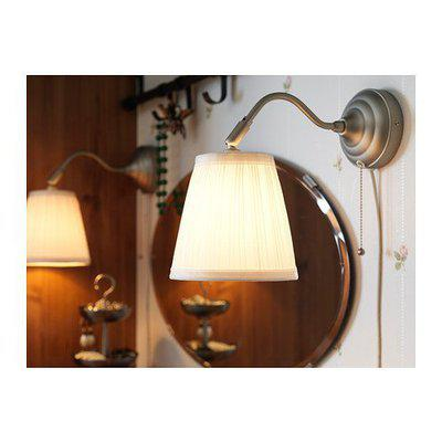 Ikea Arstid 360 Degree rotatable and Adjustable Wall Lamp Sconce White and Brass with LED Bulbs (Silver) -Set of 2