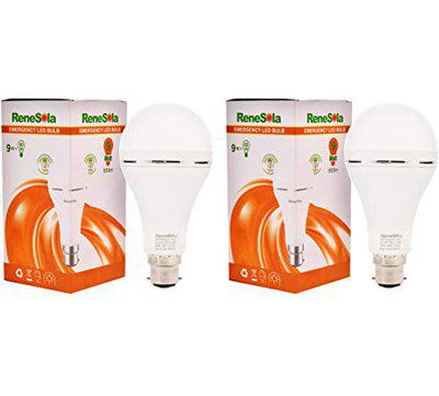RENESOLA Inverter Bulb 9 W Rechargeable Emergency LED Bulb for Home, Office, Factory (White, Cool Daylight)