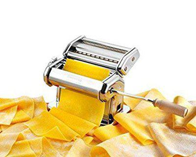 Inllex Pasta Maker Machine Hand Crank - Roller Cutter Noodle Makers Best for Homemade Noodles Spaghetti Fresh Dough Making Tools Rolling Press Kit - Stainless Steel Kitchen Accessories Manual Machines