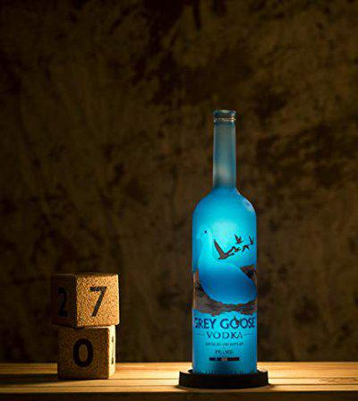 Kavi The Poetry-Art Project Recycled Bottle Vodka Night Lamp (Blue)