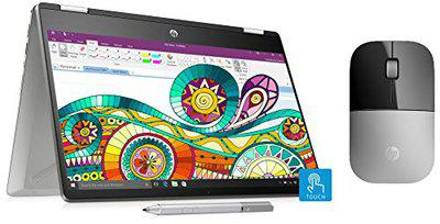 HP Pavilion x360 Core i3 8th Gen 14inch Touchscreen 2in1 Thin and Light Laptop 4GB256GB SSDWindows 10MS OfficeInking PenNatural Silver159 kg 14dh0107TU