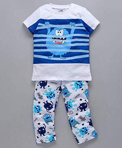 Ventra Boys Cool Monster Nightwear White