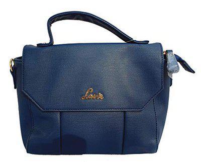 Lavie Newlands Md Hz Women's Synthetic Tote Handbag (HEEP245040M4, Navy)