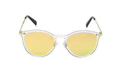 Fastrack Mirrored Round Women's Sunglasses - (M215PK1FN 51 Pink Color Lens)