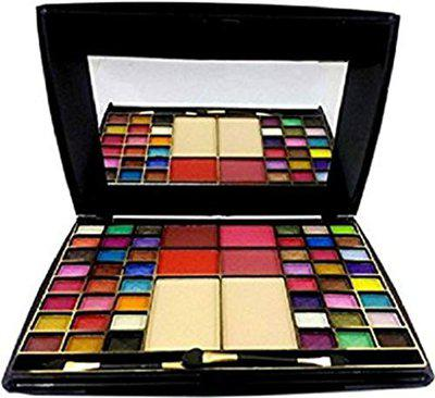 Half N Half 48 Colour Eye Shadow with Blusher with Contect Powder Makeup Kit