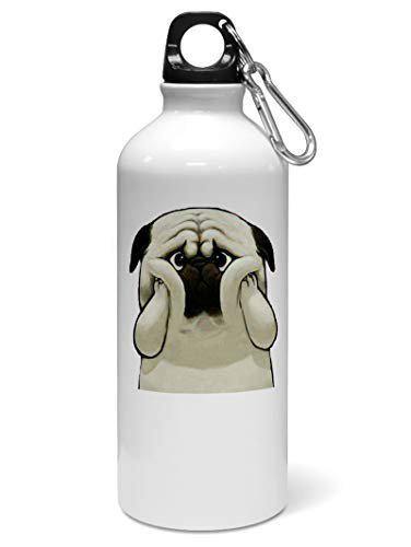 Madanyu Water Sipper Sports Bottle - Quotes Printed Aluminium 650ml - Gym Bottle Shaker - Funny Dog for Dog Lovers