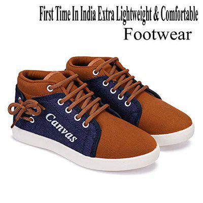 SWIGGY Casual Shoes, Sneakers Shoes, Loafers Shoes, Lace Up Shoes, Walking Shoes, First time in India Extra Light Weight & Comfortable Footwear for Kids/Boys-3105 Brown