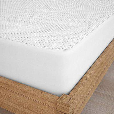 Story@Home Waterproof Hypoallergenic Breathable Ultra Soft Microfiber Quilted Mattress Protector, 78x36 Inches, Single Size, White