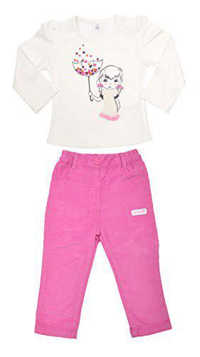Toffyhouse Girls T- Shirt and Pant Set, Pink, 9-12 Months
