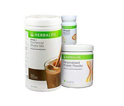 Herbalife Nutrition Weight Loss Package Formula 1 (Chocolate)+ Personalized Protein Powder + Afresh, Lemon