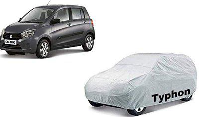 Typhon Water and Heat Resistant Car Body Cover for Maruti Suzuki Celerio with Soft Fabric Lining (Silver)
