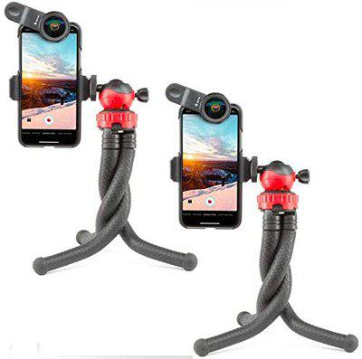 Drumstone (Pack of 2) Flexible Octopus Style Tripod with Universal Mobile Monopod Mount Adapter