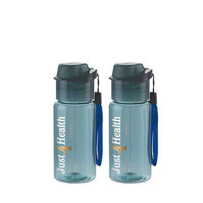 Steelo Tritan Cool Water Bottle,350 ml,Set of 2,Blue