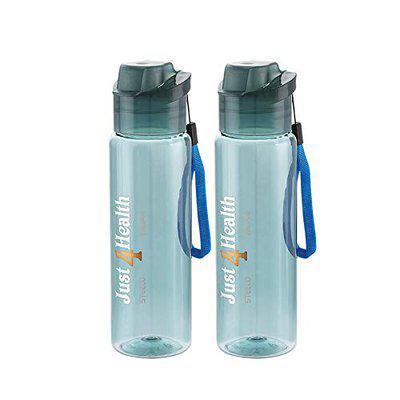 Steelo Tritan Cool Water Bottle,530 ml,Set of 2,Blue