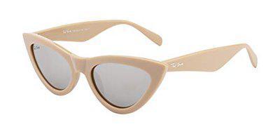Ted Smith Women Cat-eye Sunglass TS-Z3284_SIL (Size-62 MM)