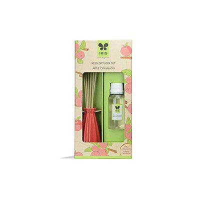 Iris New Apple Cinnamon Fragances Reed Diffuser Set with Oil 60ml With Ceramic Pot & Diffuser Stick