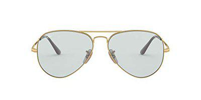 Ray-Ban UV protected Aviator Unisex Sunglasses (0RB3689|54.5 mm|Transparent)