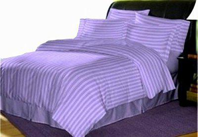 Trance Home Linen 210 TC Cotton Duvet Cover with 2 Pillow Covers - Queen Size (Lilac Purple)
