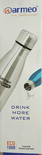 Warmeo SS Single Wall Water Bottle ECO 1000 ml (Metallic Silver)