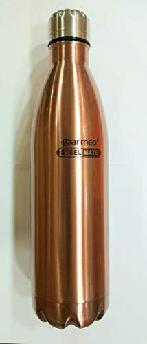 Warmeo SS Single Wall Water Bottle ECO 1000 ml (Metallic Brown)