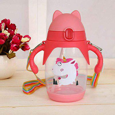 TIED RIBBONS Kid's BPA-free School Water Bottle with Straw (400 ml)