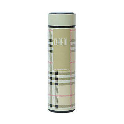 Shrisay Ventures Basics Cream Charm 500ML Double Wall Vacuum Insulated Stainless Steel Thermos Flask Bottle