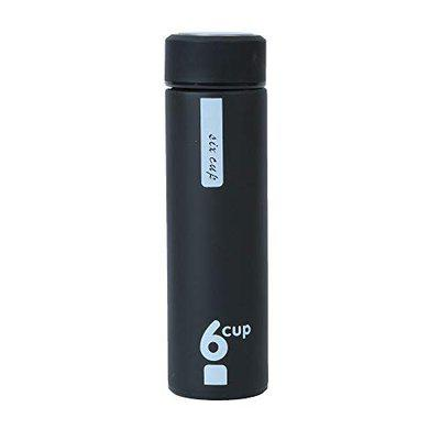 Shrisay Ventures Basics Black 6 Cup 500ML Double Wall Vacuum Insulated Stainless Steel Thermos Flask Bottle