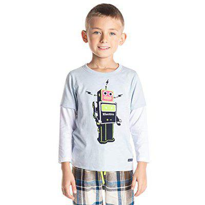 Cherry Crumble California Boy's Regular fit Pyjama Top (WS-NSUIT-1307_Blue_6Y)