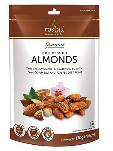 rostaa Roasted and Lightly Salted Premium California Almond, 170 g
