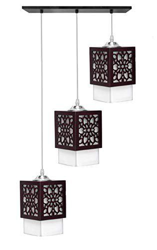 BrightLyt Linear/Sequential Wooden Chandelier Hanging Pendant Ceiling Light