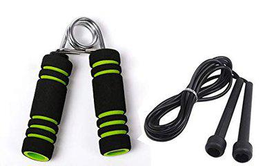 VICTORY Ultimate Soft Foam Handle 1 PC & Skipping Rope (Colour May Vary) (Green)
