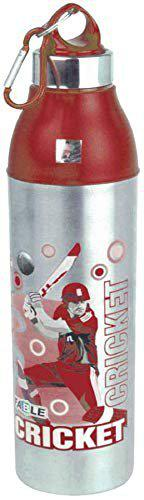 FABLE Hot & Cold Insulated Water Bottle Cool Aqua Steel 100% Leak Proof (Red, 600ML)